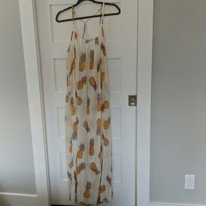 Pineapple maxi dress beach cover-up